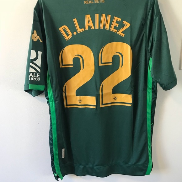 huge selection of 9e552 02dcd Diego Lainez Real Bitis soccer Jersey AWAY Size L NWT